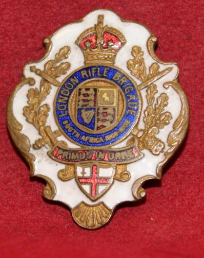 LONDON RIFLE BRIGADE Enameled Sweetheart Pin