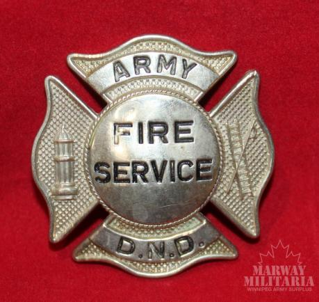Army / DND Fire Services Cap Badge