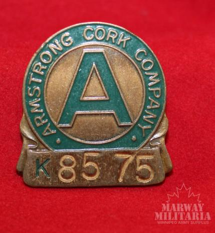 Armstrong Cork Company Employee Badge