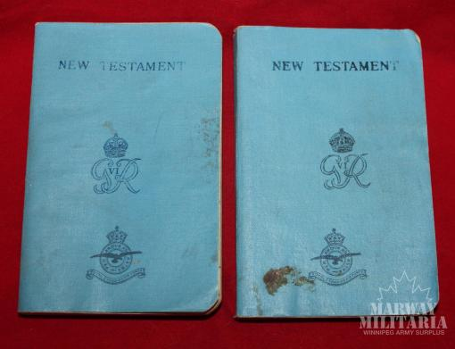 RCAF 1939 dated New Testament Bible Geo VI