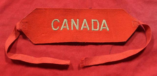 WW1 8th Battalion related CANADA Arm Band
