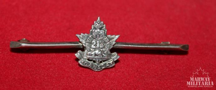 WW1 CEF 217th Battalion Tie Pin / Broach Pin