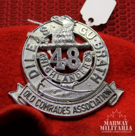 48th Highlanders of Canada Old Comrades Association Beret