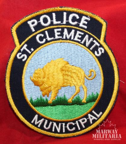 Old St. Clements Manitoba Municipal Police Patch