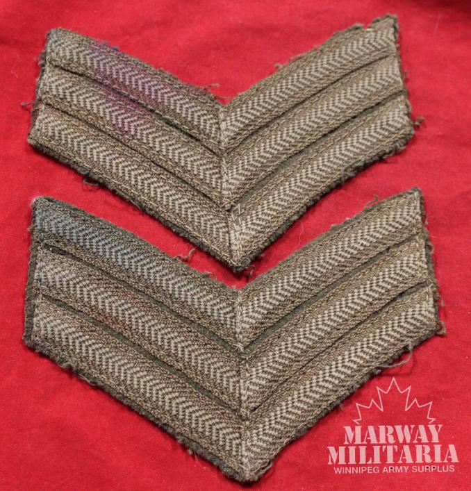 WW1 Sergeants Rank Insignia Pair