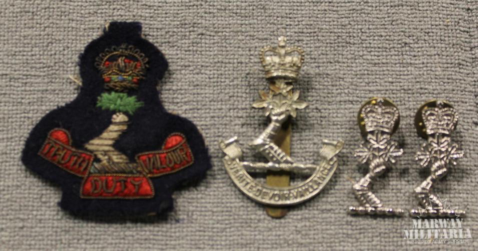Lot of 4 Royal Military College Badges and Insignia