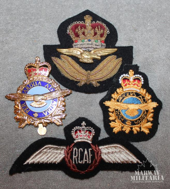 Post 1953 Canadian Airforce Badge Lot