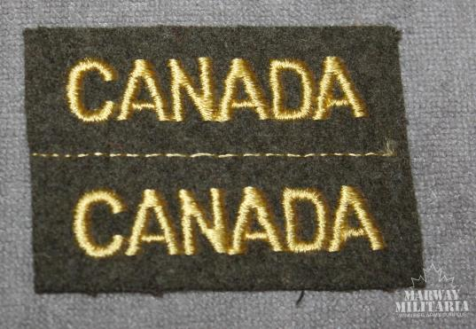 WW2, Canada Nationality Shoulder Title Pair