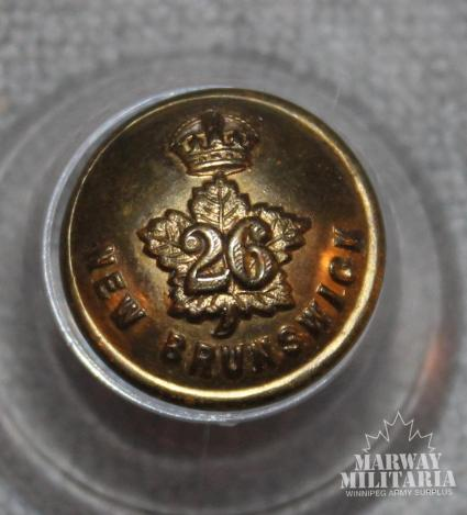 WW1 CEF 26th Battalion Uniform Button