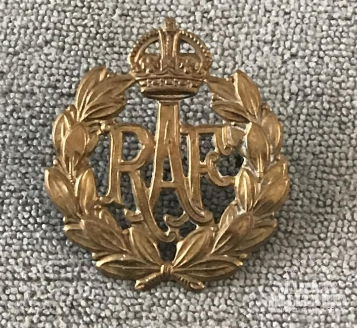WW2 RAF, Royal Air Force Cap Badge