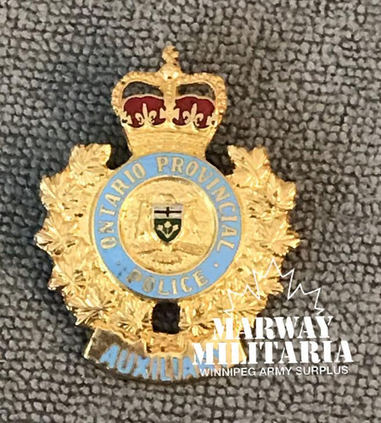 OBSOLETE, Ontario Provincial Police AUXILIARY Collar Badge