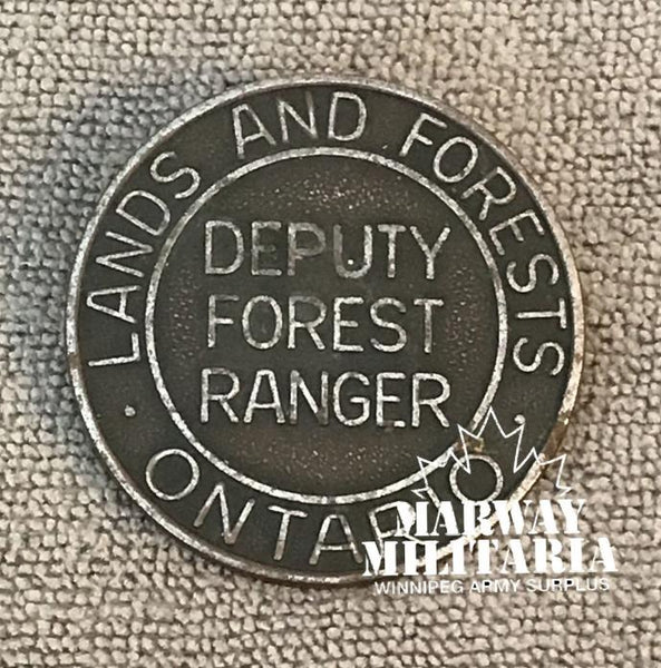 OBSOLETE, Ontario Lands and Forest, Deputy Forest Ranger, Badge