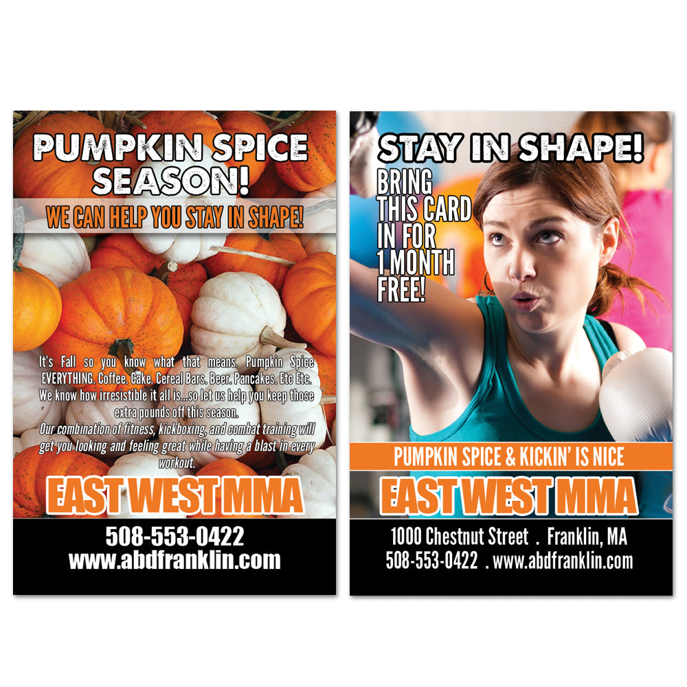 Pumpkin Spice AD Card - Get Students