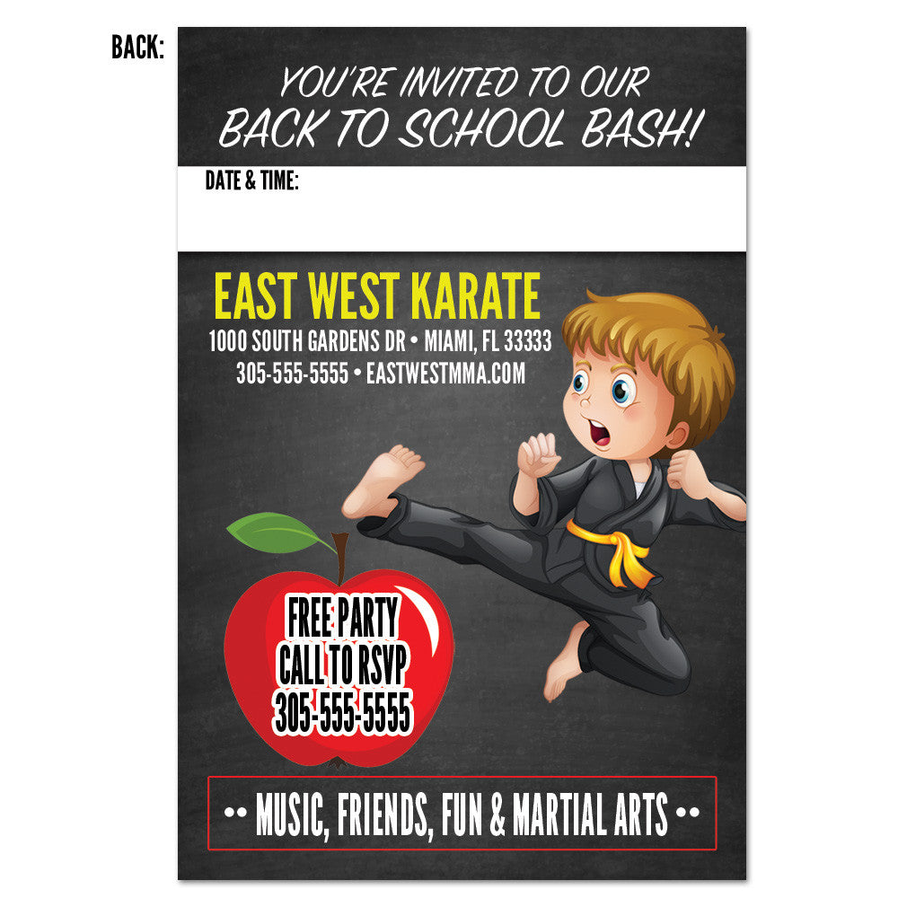 Back To School Bash Invitation - Get Students