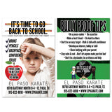Back to School/Bully Proof Tips Card