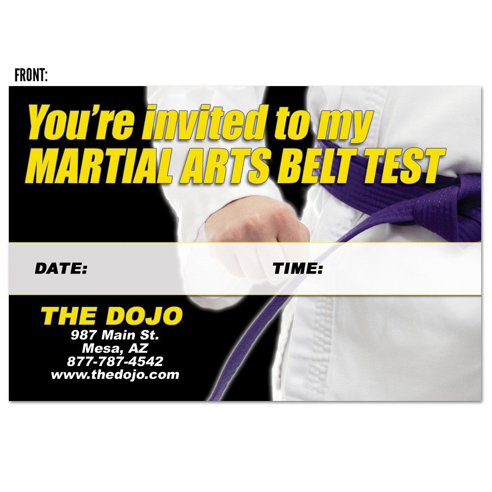 Belt Test Invite AD Card
