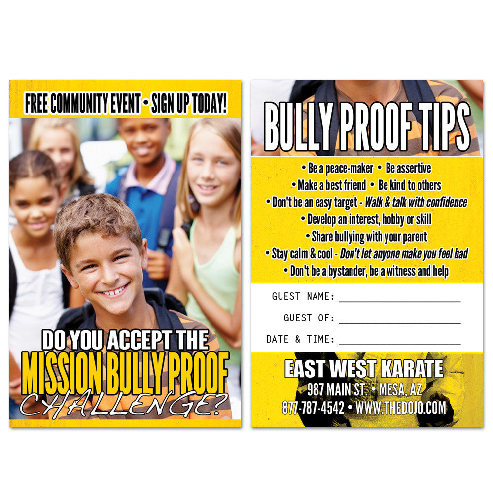 Bully Proof AD Card 02 - Get Students