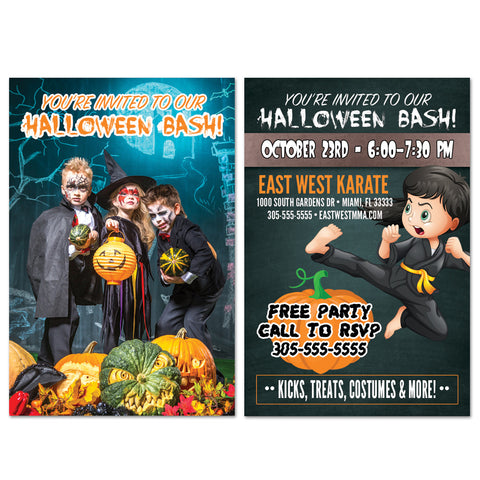 Halloween Bash Invite AD Card