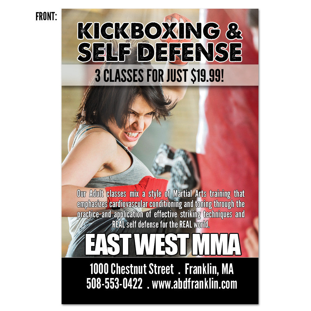 Kickboxing & Inspiration AD Card - Get Students