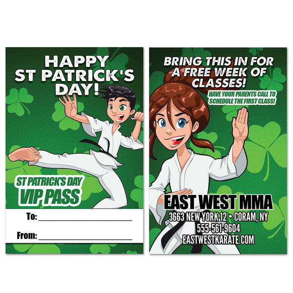 St Patrick's Day AD Card - Get Students