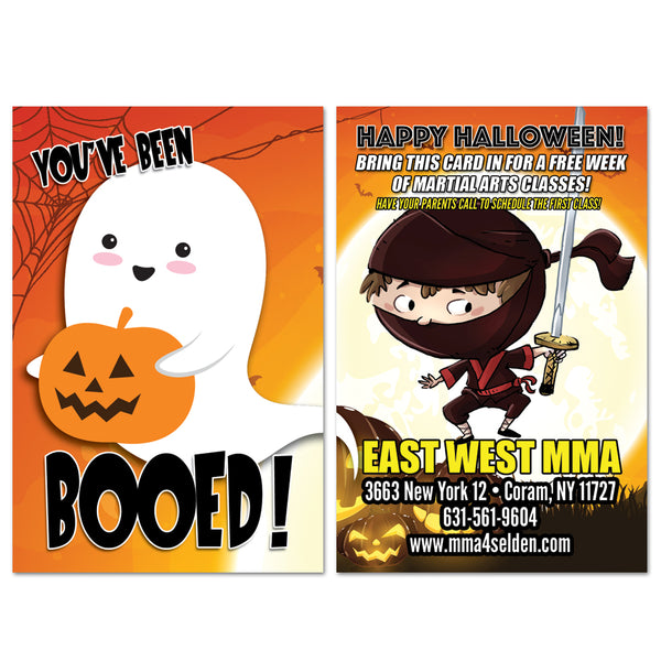 You've Been BOOED Halloween AD Card - Get Students