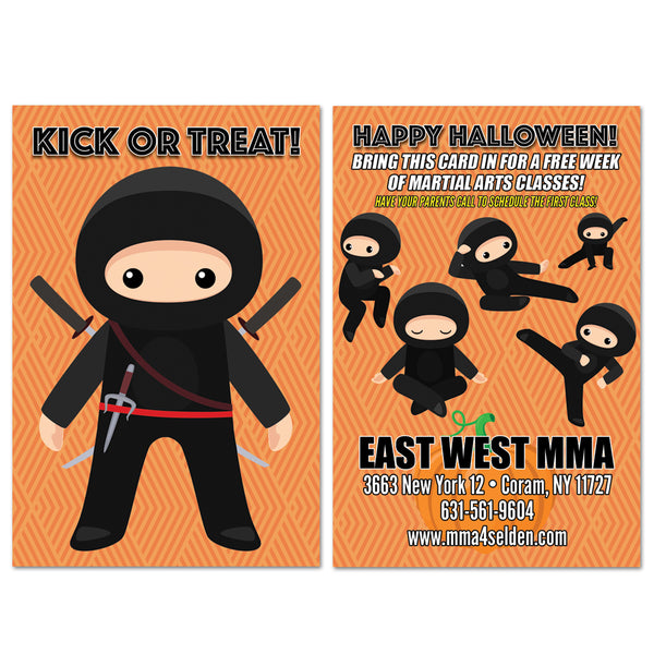 Ninja Halloween AD Card - Get Students