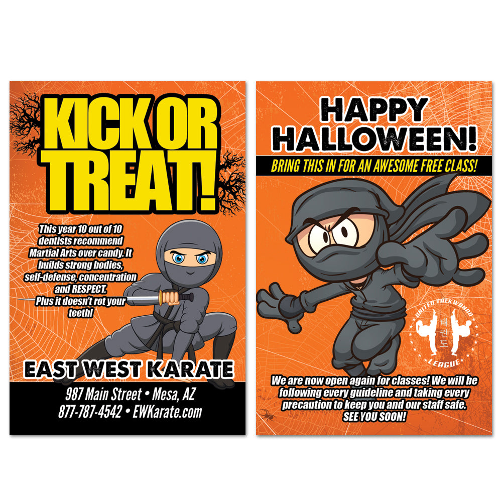 NEW Ninja Halloween AD Card - Get Students