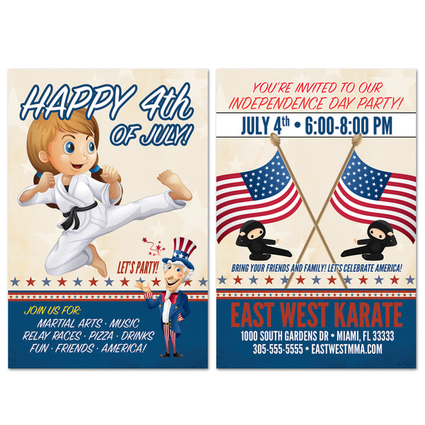 4th of July Party Invite AD Card