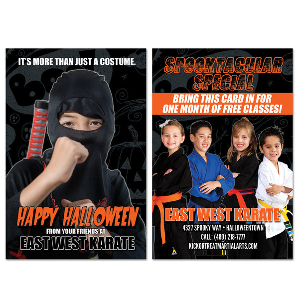Halloween Ninja AD Card - Get Students