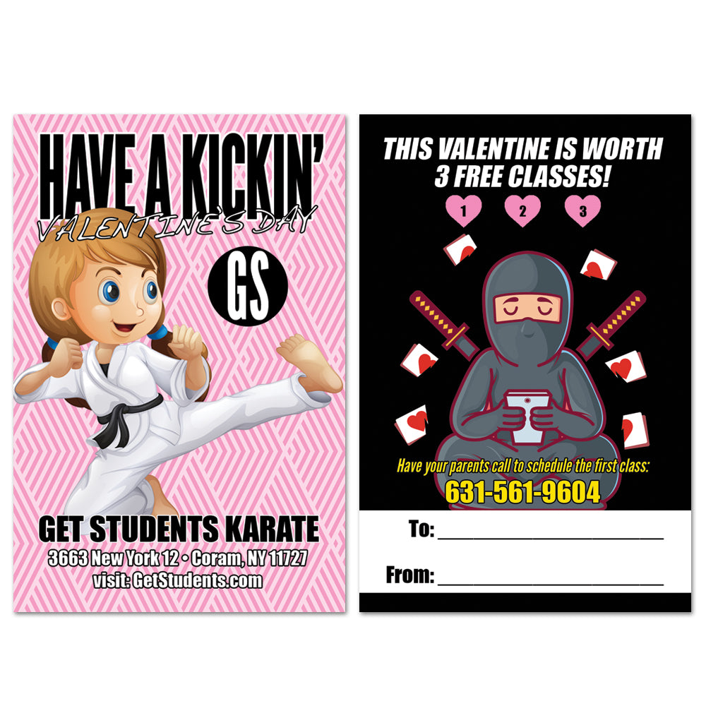 3 Hearts Valentine AD Card - Get Students