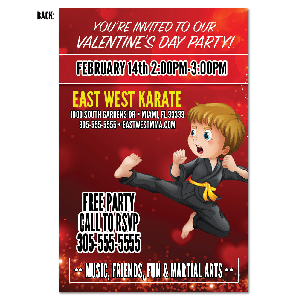 Valentine Party Invite AD Card – Get Students