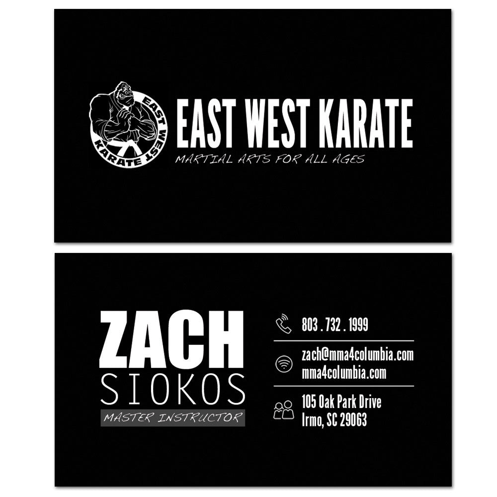 The Martial Arts Business Card 01