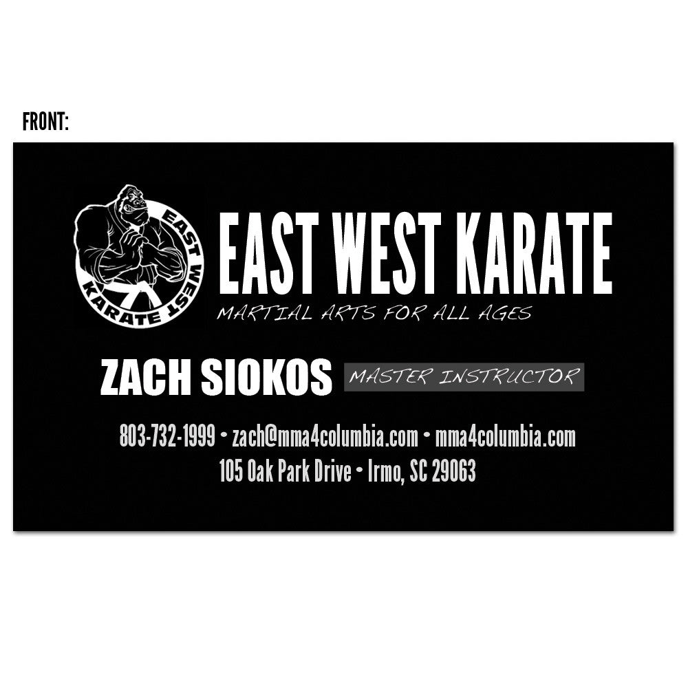 The Martial Arts Business Card 02 - Get Students