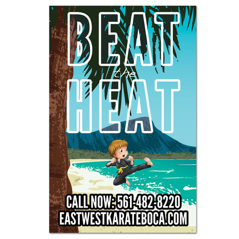 Beat The Heat Vinyl Banner - Get Students
