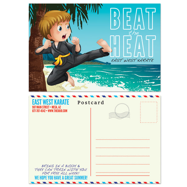 Beat The Heat Postcard - Get Students