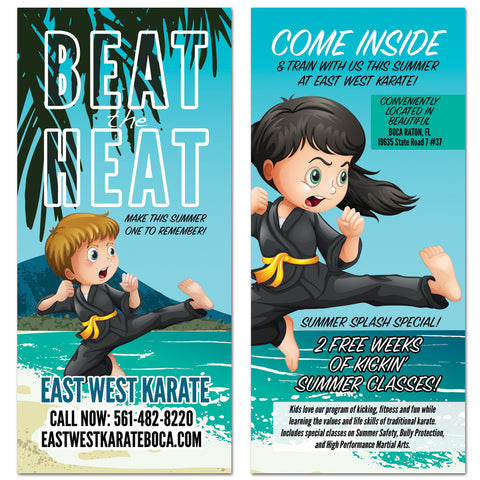 Beat The Heat Rack Card - Get Students