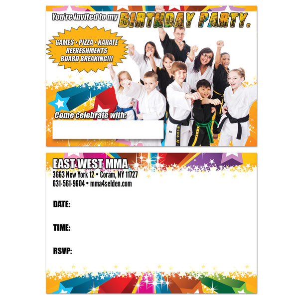 Birthday Party Invitation Postcard - Get Students