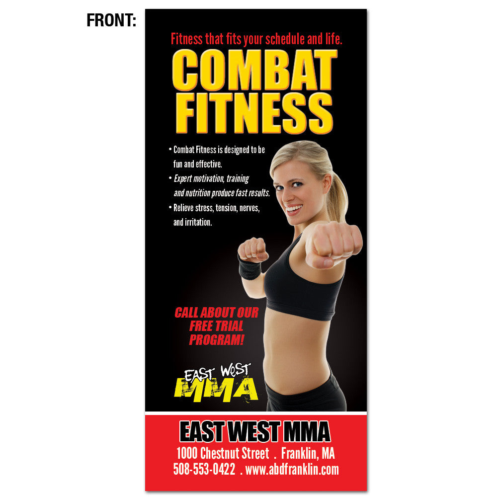 Combat Fitness & Kids Rack Card - Get Students