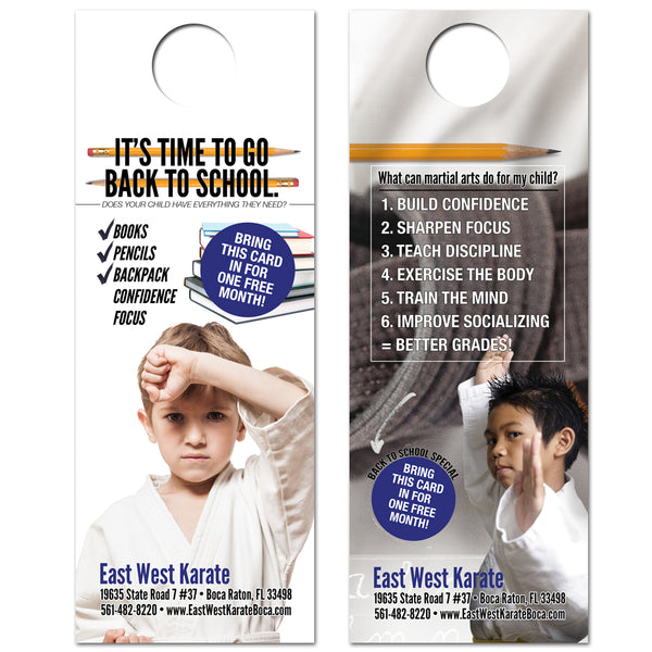 Back To School Doorhanger - Get Students