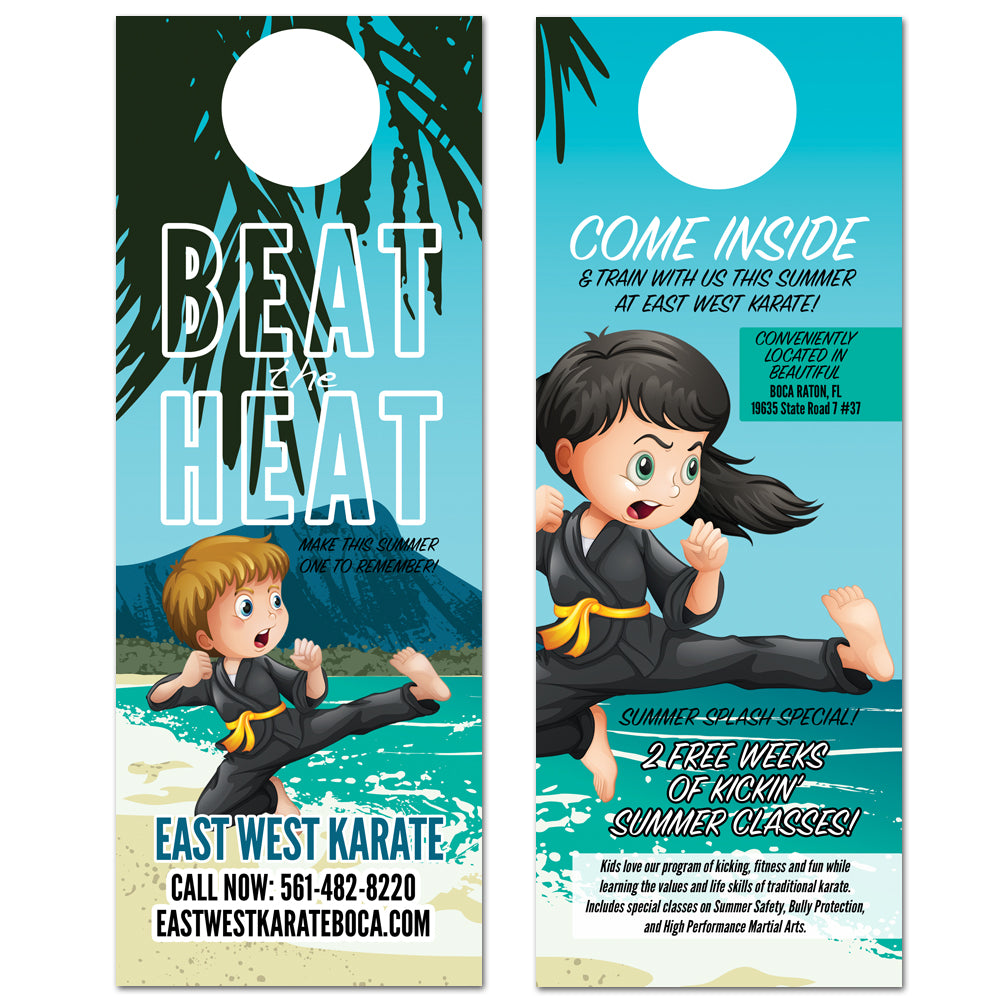 Beat The Heat Doorhanger - Get Students