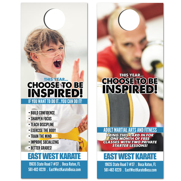 BE INSPIRED Doorhanger