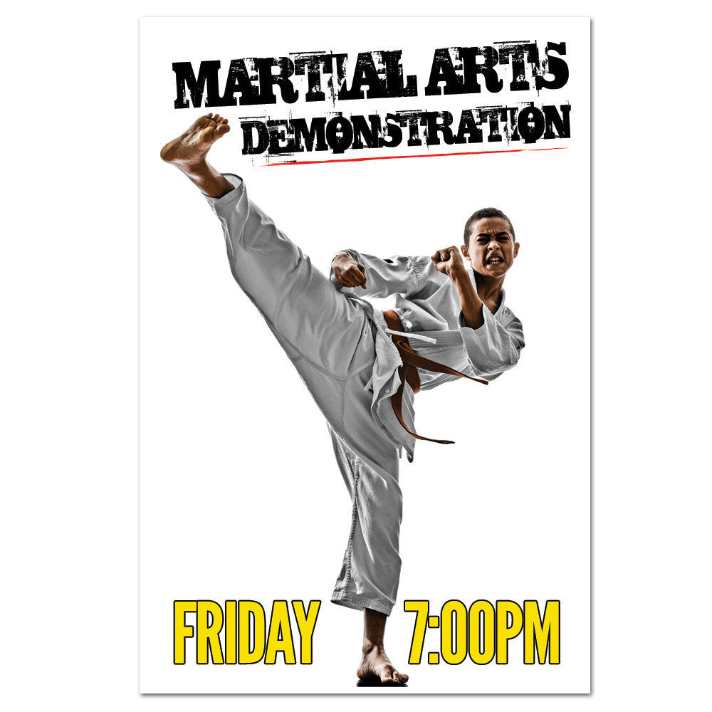 Martial Arts Demo Cling 02 - Get Students