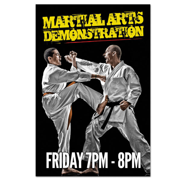 Martial Arts Demo Cling - Get Students