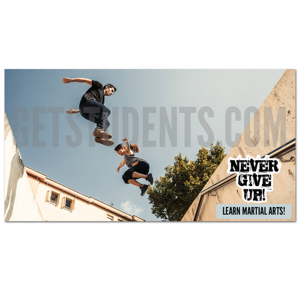 Never Give Up Facebook Ad - Get Students