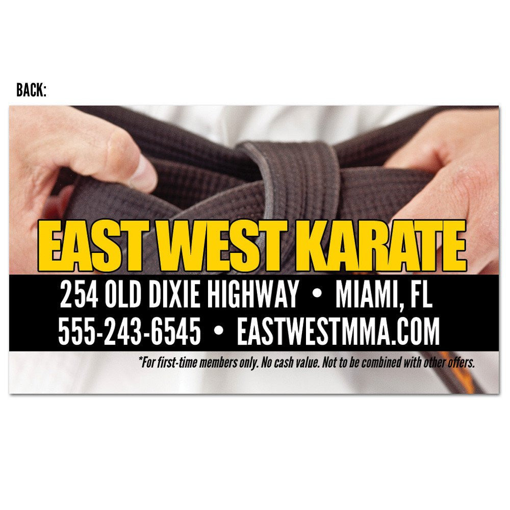 Martial Arts Plastic Gift Card