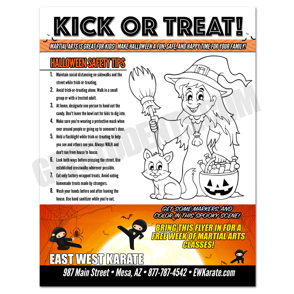 Halloween Safety Tips Flyer 2 - Get Students