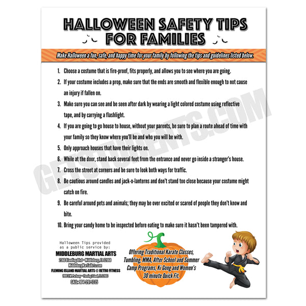 Halloween Safety Tips Flyer - Get Students