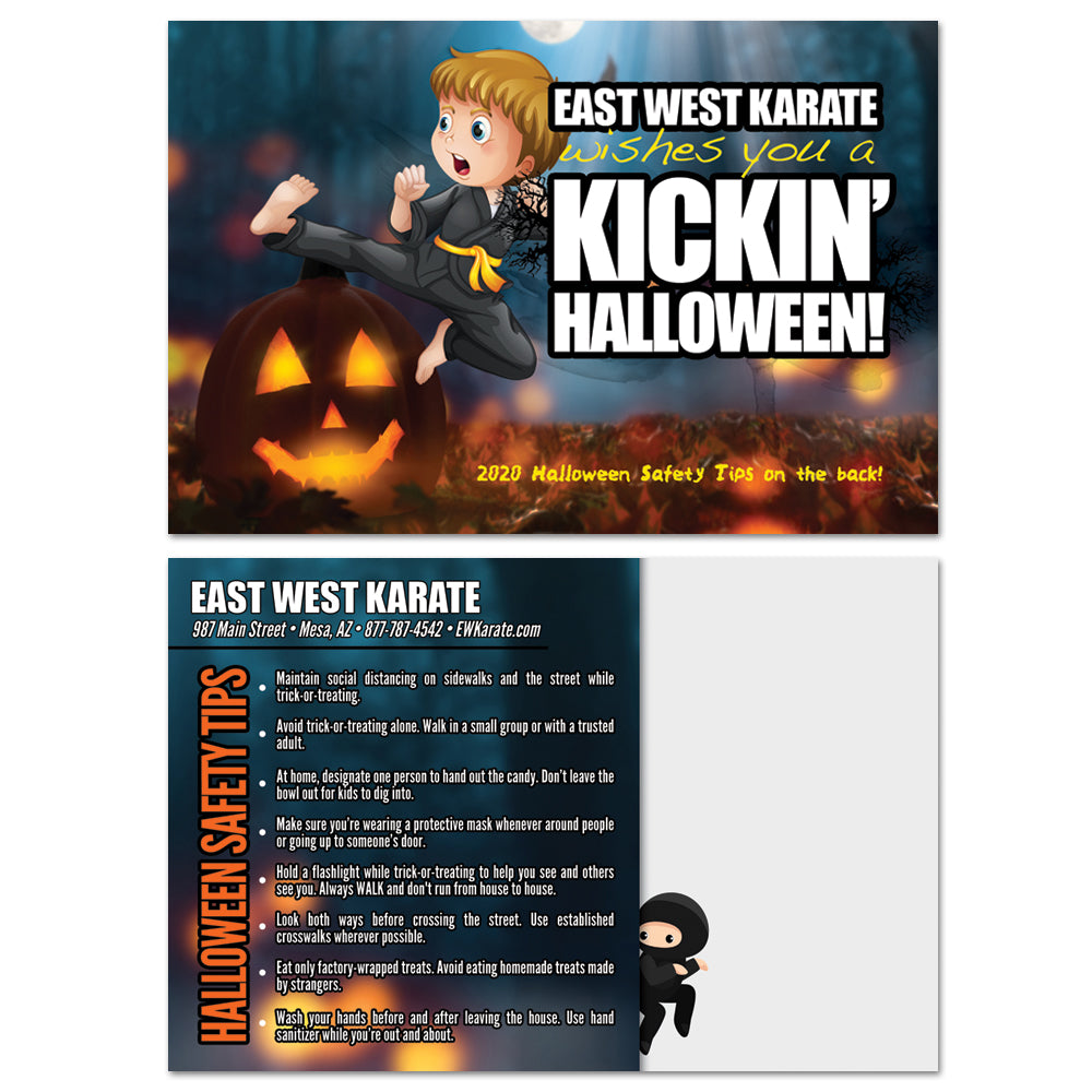 NEW Halloween Safety Tips Postcard - Get Students