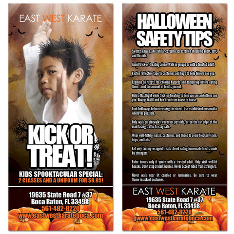 Halloween Safety Tips Rack Card