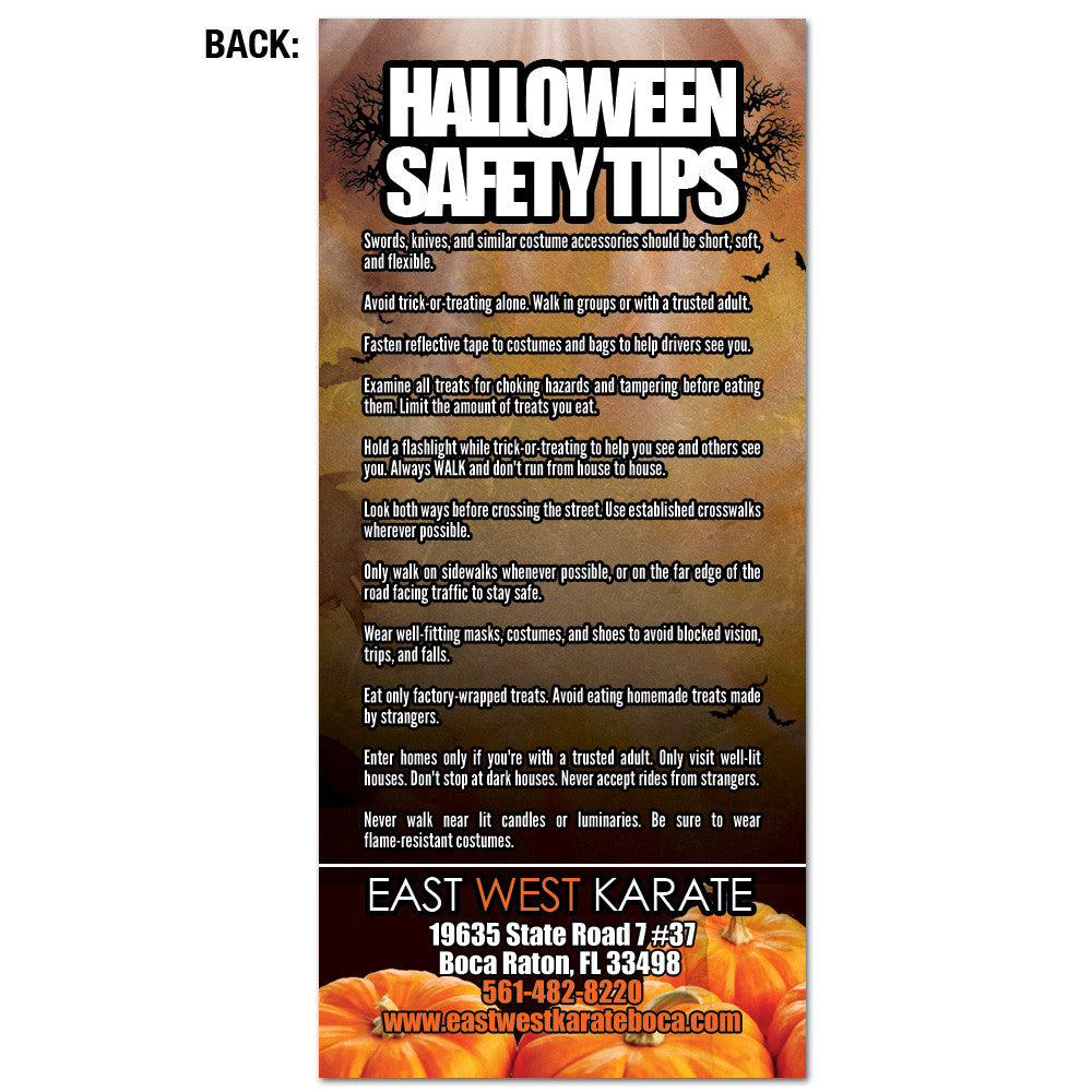 Halloween Safety Tips Rack Card - Get Students